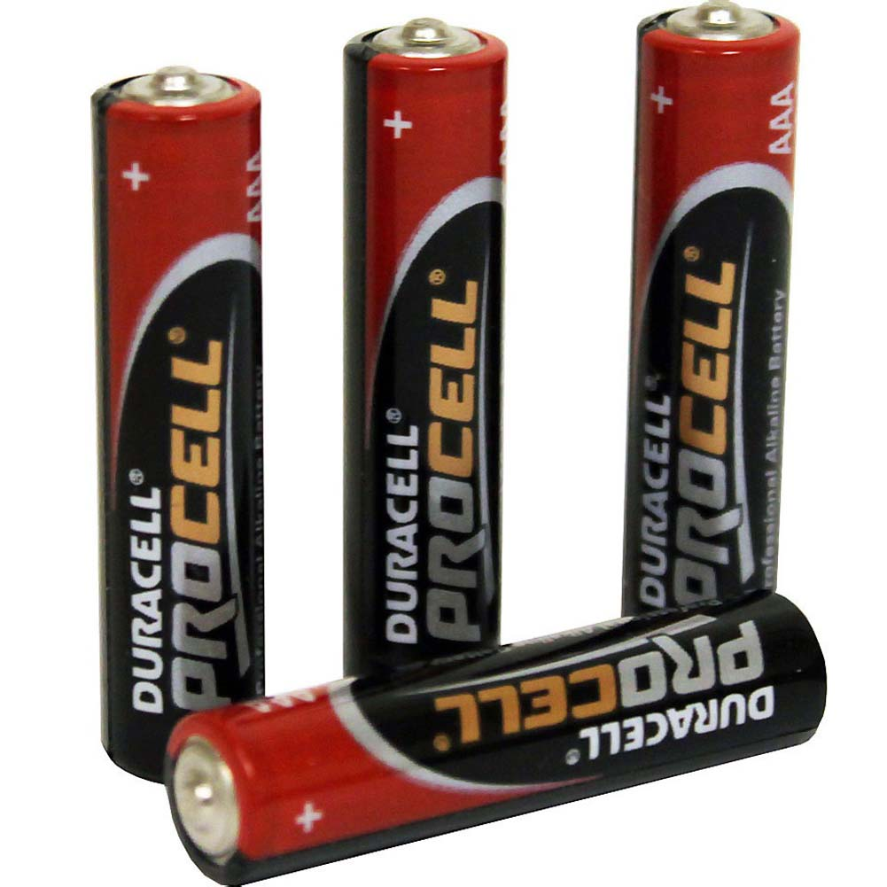 Four AAA Duracell ProCell Alkaline Batteries - View #1