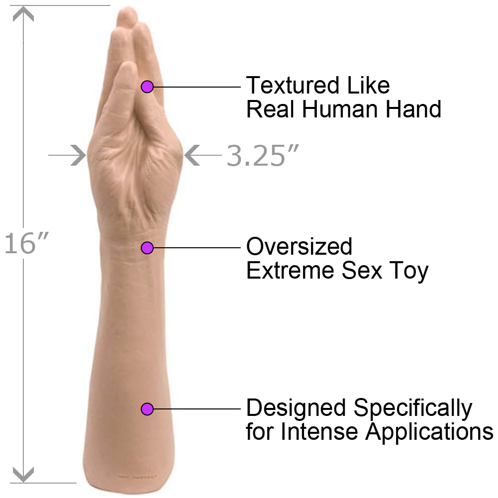 "Doc Johnson Classic Hand Dildo 16"" Natural - View #1"