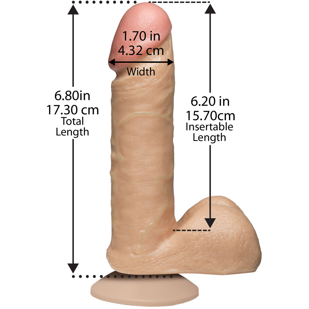 "Doc Johnson Realistic Cock with Vac-U-Lock Suction Cup 6"" Vanilla - View #3"