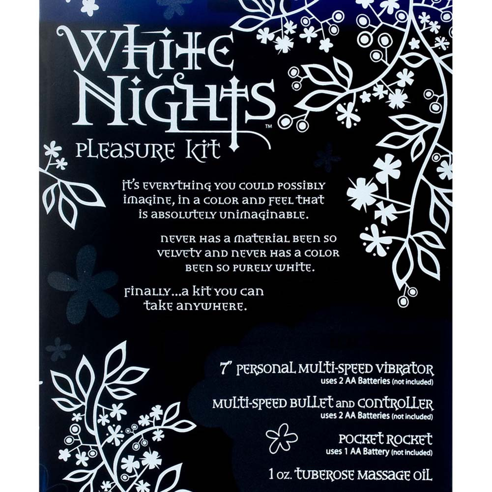 "White Nights Pleasure Kit for Lovers 6.75"" White - View #3"