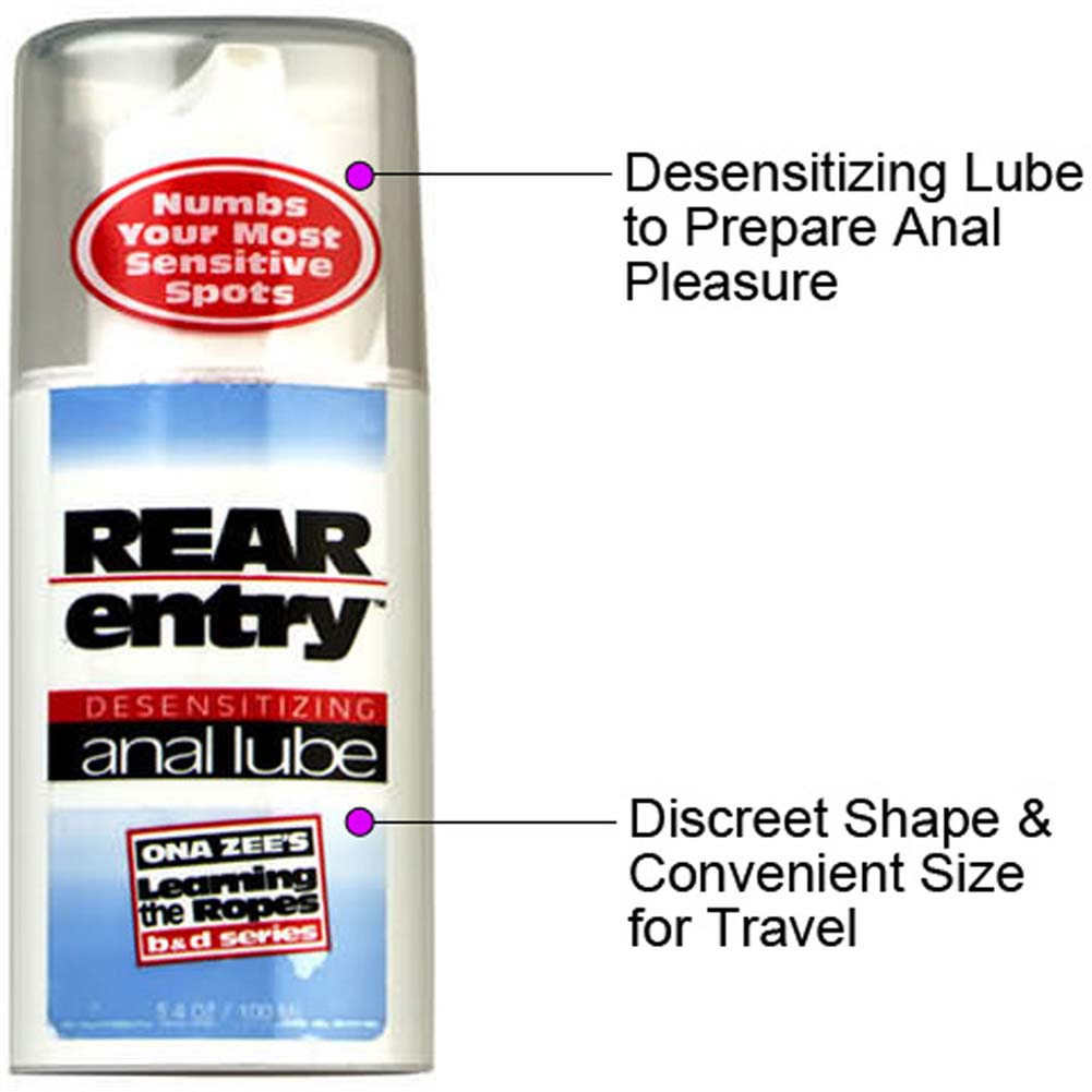 Ona Zees Rear Entry Desensitizing Anal Lube 3.4 Oz. - View #1