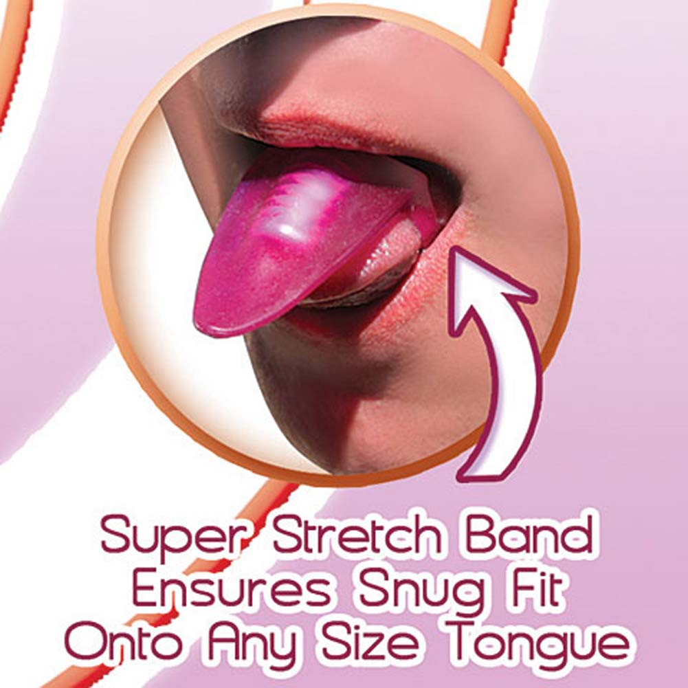 Vibrating Silicone Tongue Teaser Magenta - View #3