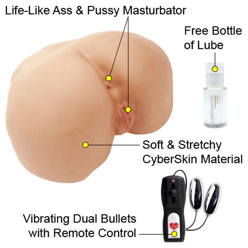 CyberSkin Vibrating Perfect Ass Realistic Male Masturbator Natural Flesh - View #1