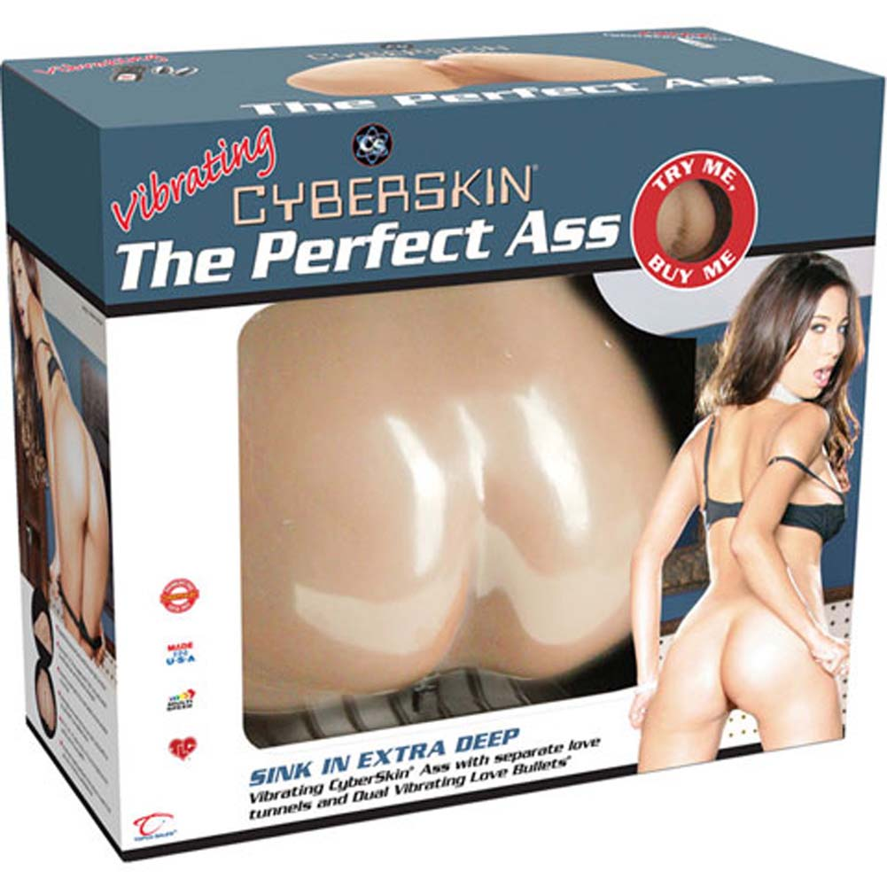 CyberSkin Vibrating Perfect Ass Realistic Male Masturbator Natural Flesh - View #4