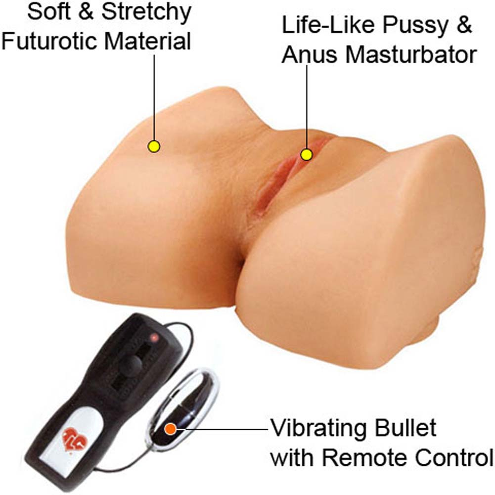 Bree Olson Suction Base CyberSkin Vibrating Pussy and Ass Natural - View #1