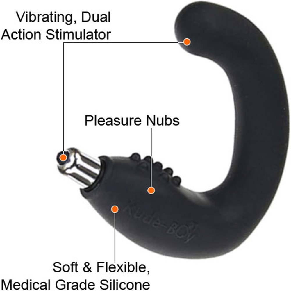 Rocks-Off Rude-Boy Silicone Vibrating Prostate Massager Black - View #1