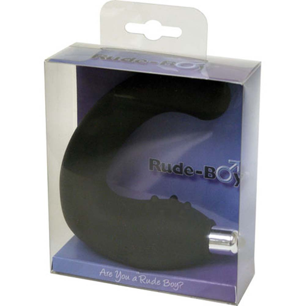 Rocks-Off Rude-Boy Silicone Vibrating Prostate Massager Black - View #4