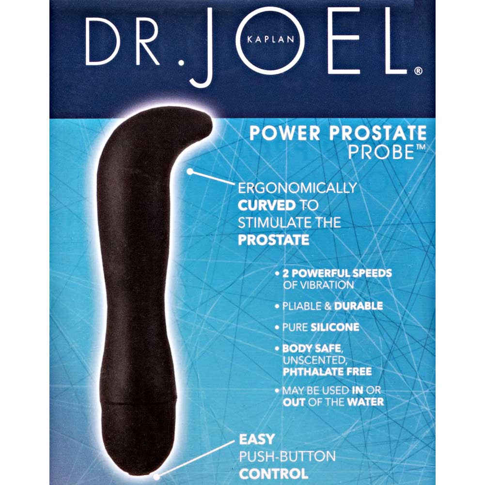 "CalExotics Dr. Joel Kaplan Power Probe Prostate Silicone G-Spot Vibe 5.75"" Black - View #3"