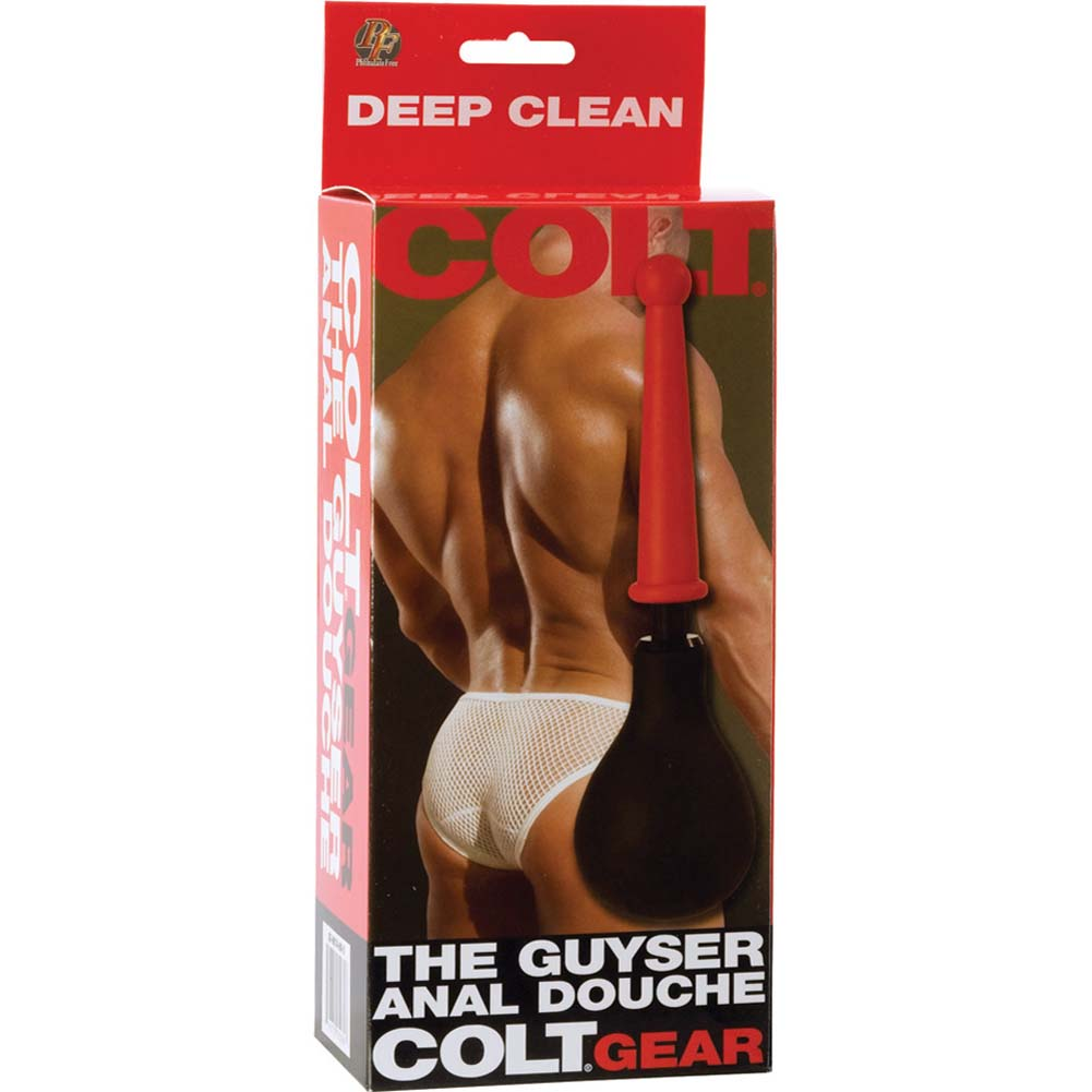 "COLT by CalExotics Guyser Anal Douche 10"" Black with Red Tip - View #3"