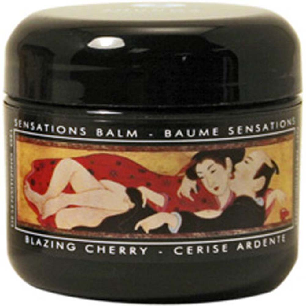 Shunga Sensations Balm 2 Fl. Oz. 60 mL Blazing Cherry - View #1