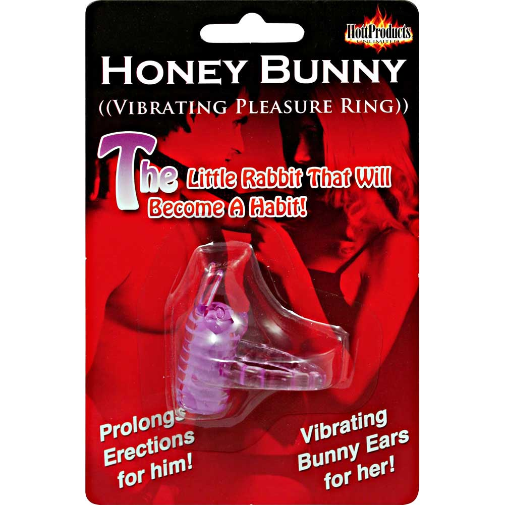 Honey Bunny Jelly Vibro Cock Ring Purple - View #3