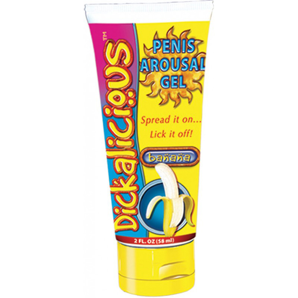 Hott Products Dickalicious Penis Arousal Gel 2 Fl.Oz 58 mL Banana - View #1