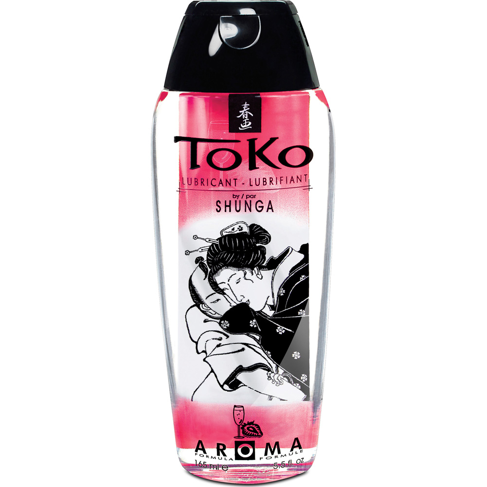 Toko by Shunga Aroma Intimate Lubricant 5.5 Fl.Oz 165 mL Strawberry and Champagne - View #1