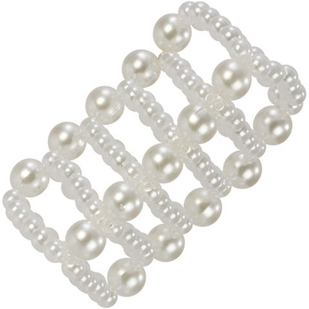 Basic Essentials Pearl Stroker Beads White - View #3