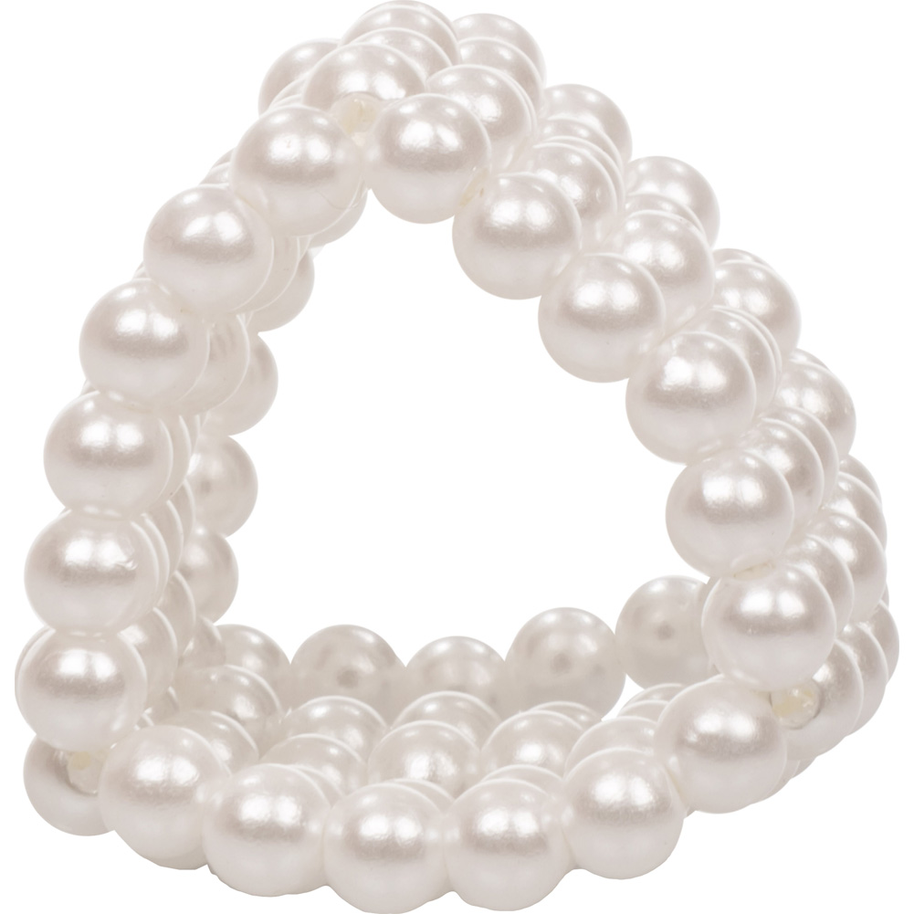 "CalExotics Basic Essentials Pearl Stroker Beads 1.5"" White - View #4"