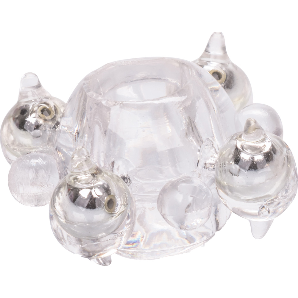 Basic Essentials Enhancer Ring with Beads Clear - View #3