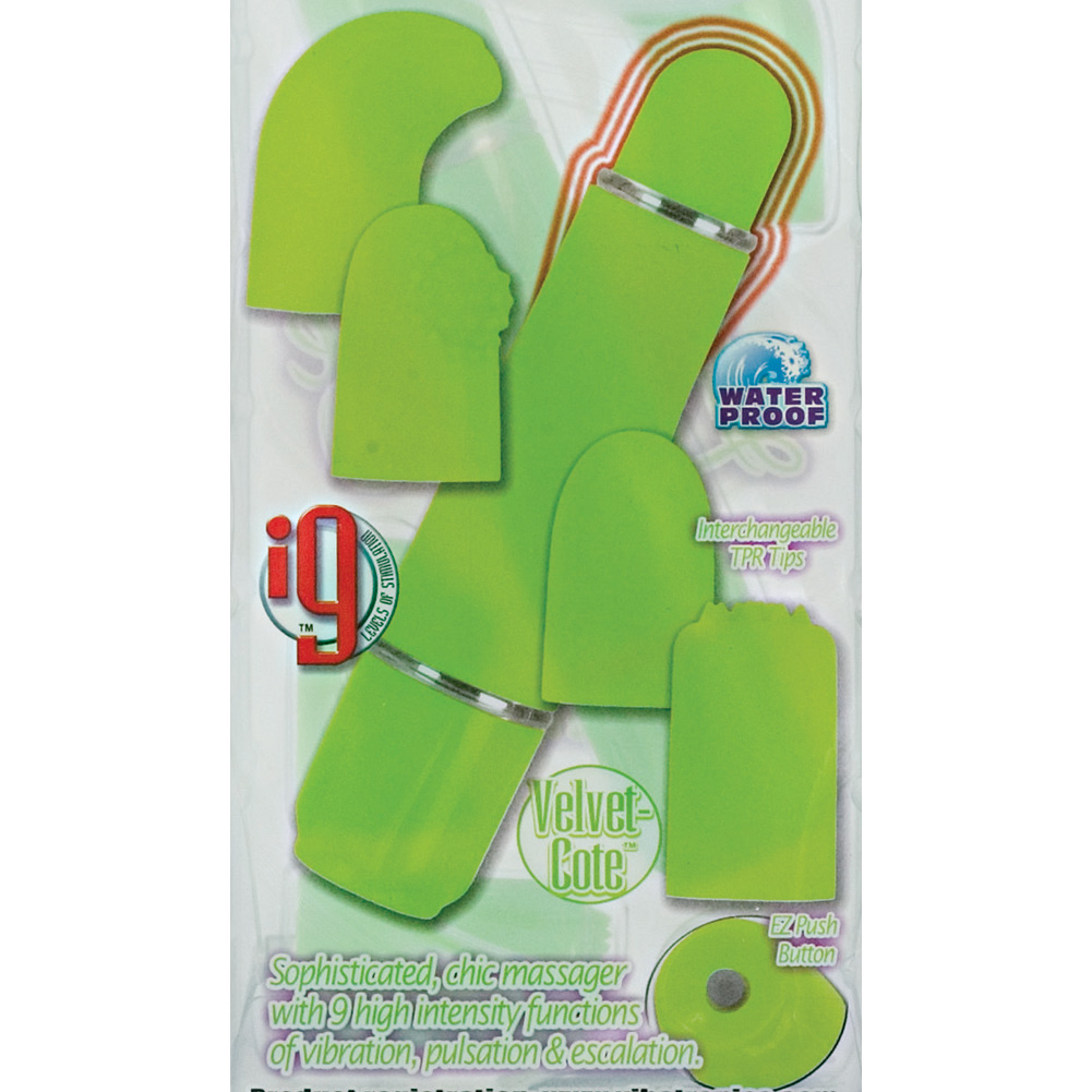 "Lovevibe Number 9 Interchangeable Tips 4.5"" Lime - View #1"