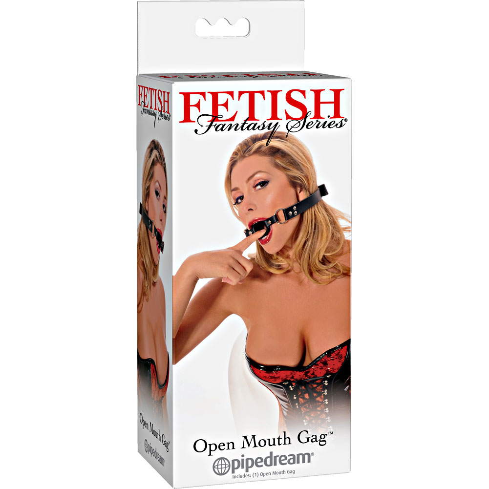 Fetish Fantasy Series Open Mouth Gag Black - View #4