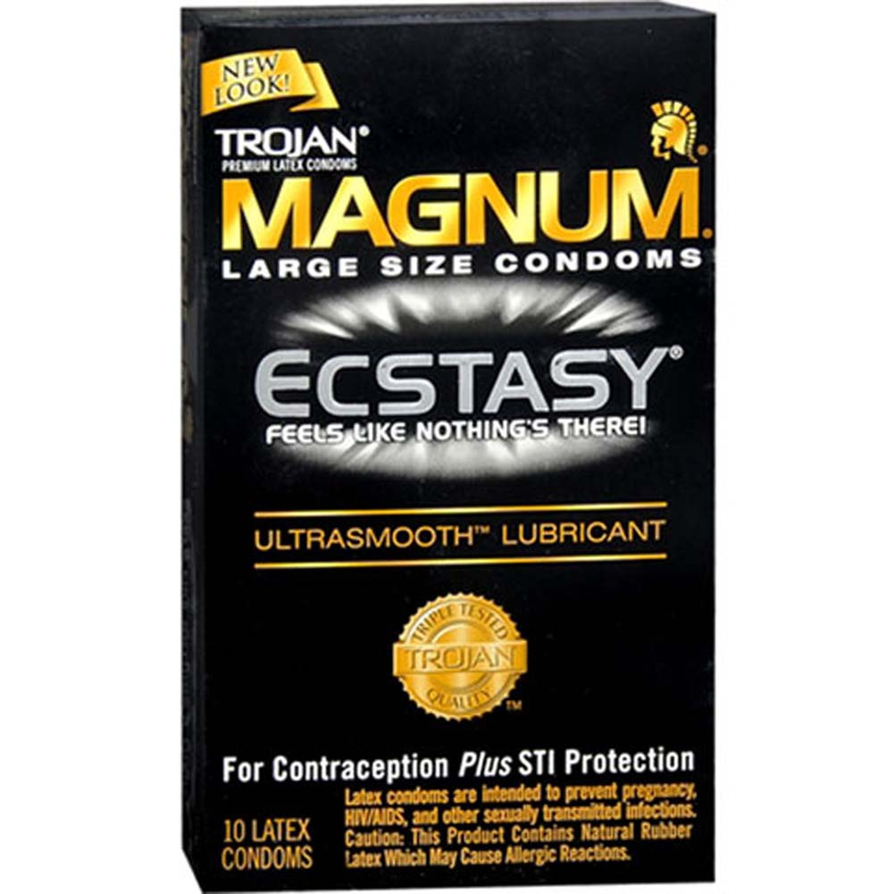 Trojan Magnum Ecstasy Condoms with UltraSmooth Lubricant 10 Pack - View #2