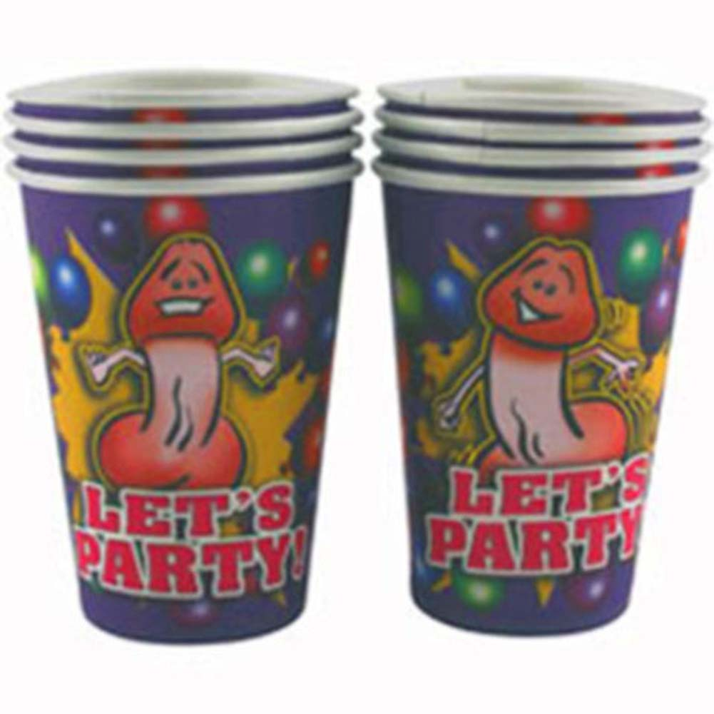 California Exotics Lets Party 8 Happy Penis Party Cups - View #2