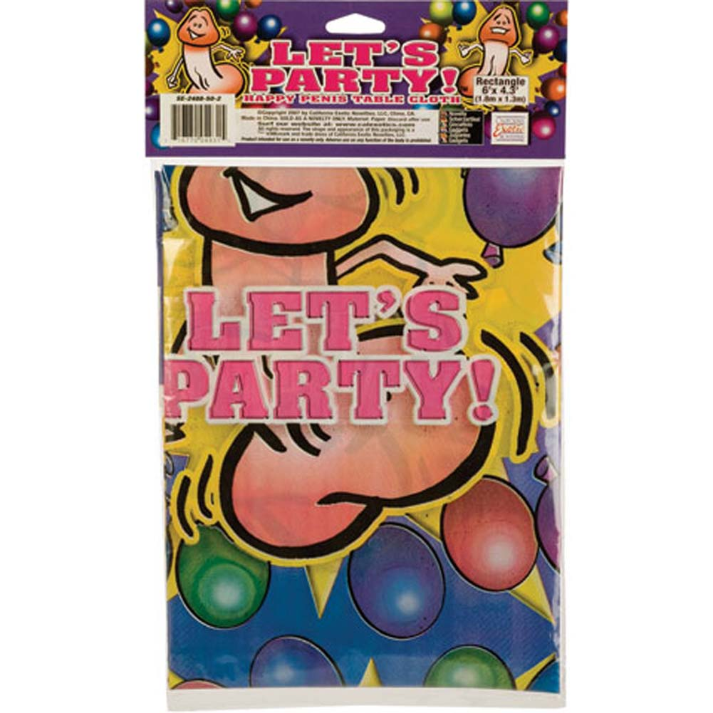 Lets Party Happy Penis Table Cloth - View #3