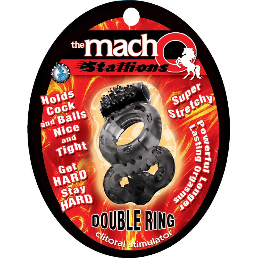 Nasstoys Macho Stallions Vibrating Double Ring Black - View #1