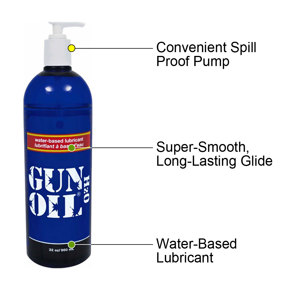 Gun Oil H2O Water-Based Premium Personal Lubricant 32 Fl.Oz 960 mL - View #1