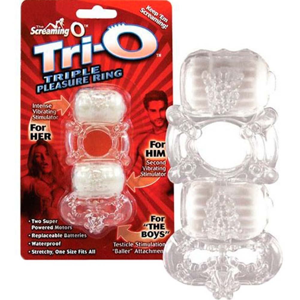 Screaming O Tri O Triple Pleasure Cockring ASSORTED COLORS - View #4