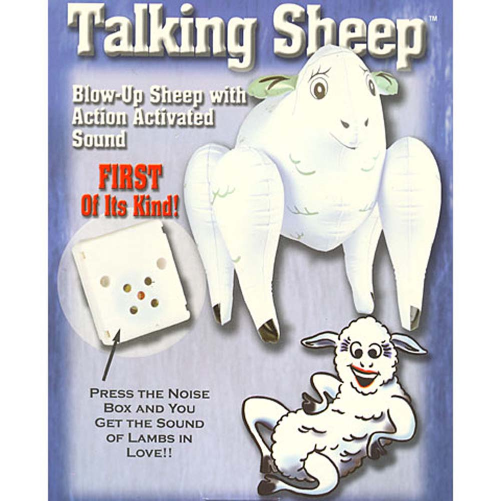 California Exotics Talking Inflatable Sheep Doll - View #1