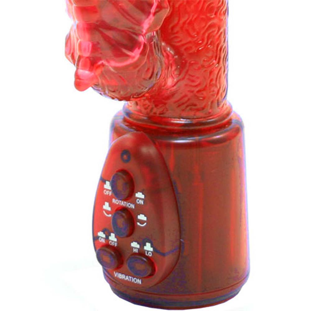 """Jungle Jigglers Butterfly Dual Action Female Stimulator 9.75"""" Red - View #3"""