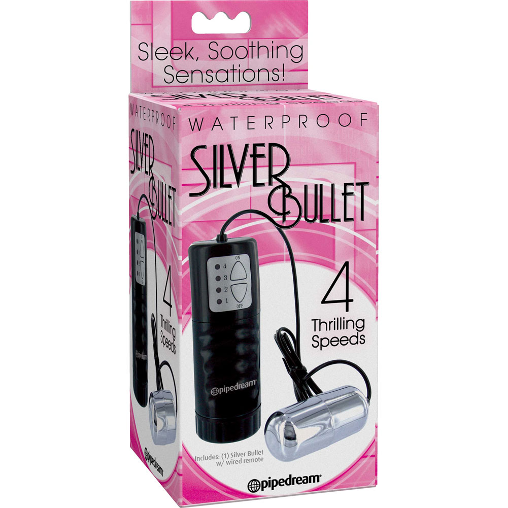 Waterproof Vibrating Silver Bullet - View #1