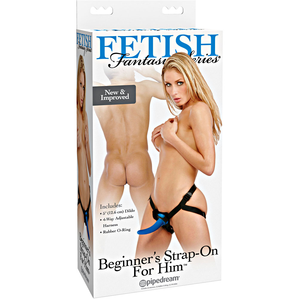 "Fetish Fantasy Beginners Strap-On for Him with 4"" Jelly Dildo - View #4"