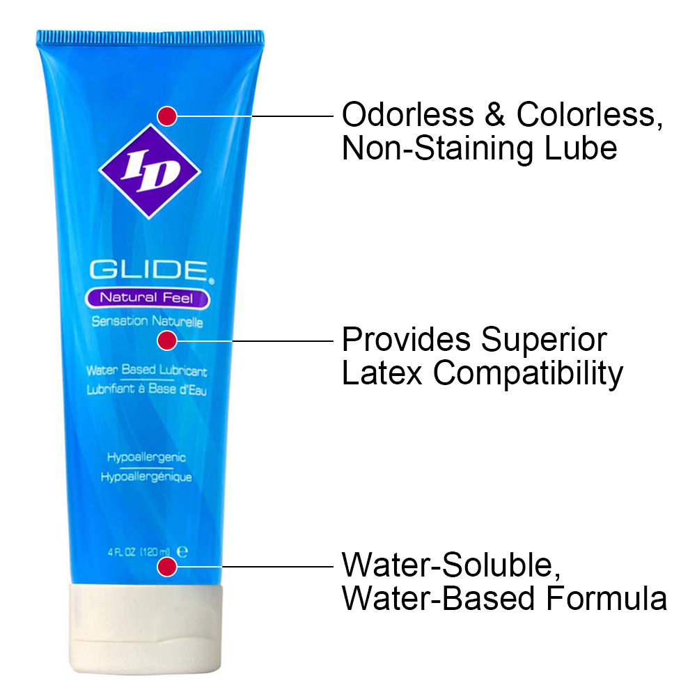 ID Glide Natural Feel Water-Based Personal Lubricant 4 Fl.Oz 120 mL Tube - View #1