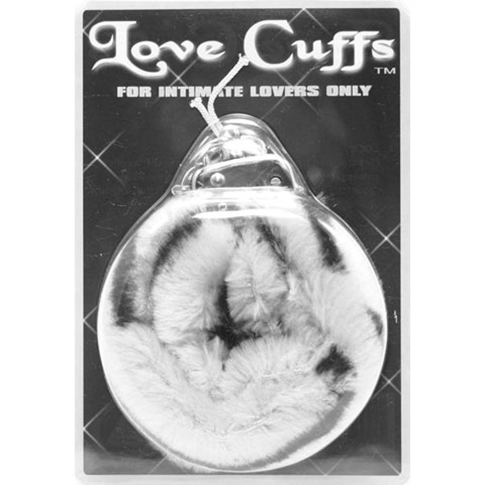 Golden Triangle Faux Fur Love Cuffs for Intimate Lovers Plush Zebra - View #1