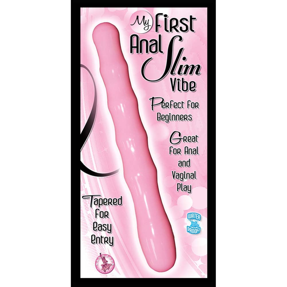 "Nasstoys My First Anal Slim Waterproof Vibe 6.5"" Pink - View #3"