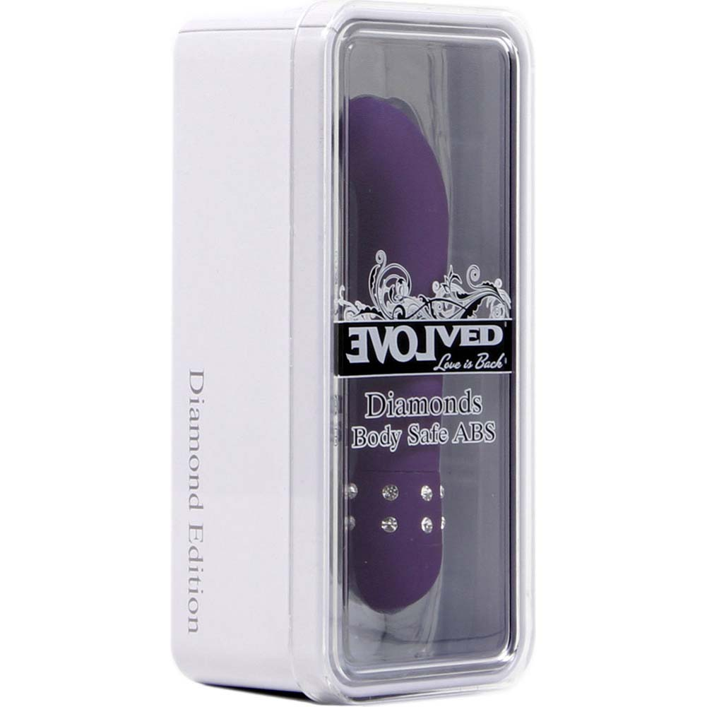 "Diamond Lustre - G-Spot Vibrator 4.5"" Purple - View #1"