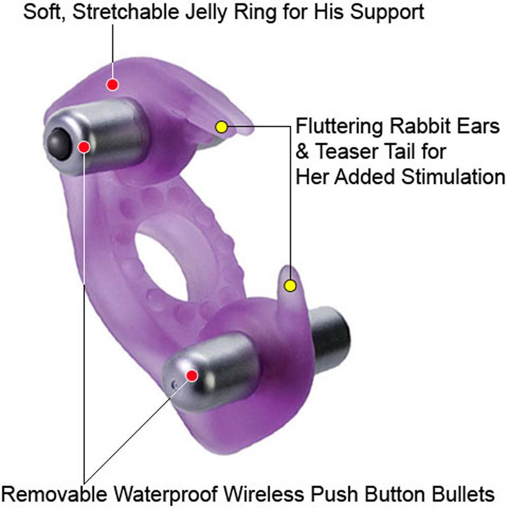 CalExotics Cordless Rockin Rabbit Waterproof Dual Vibrating Jelly Ring - View #1
