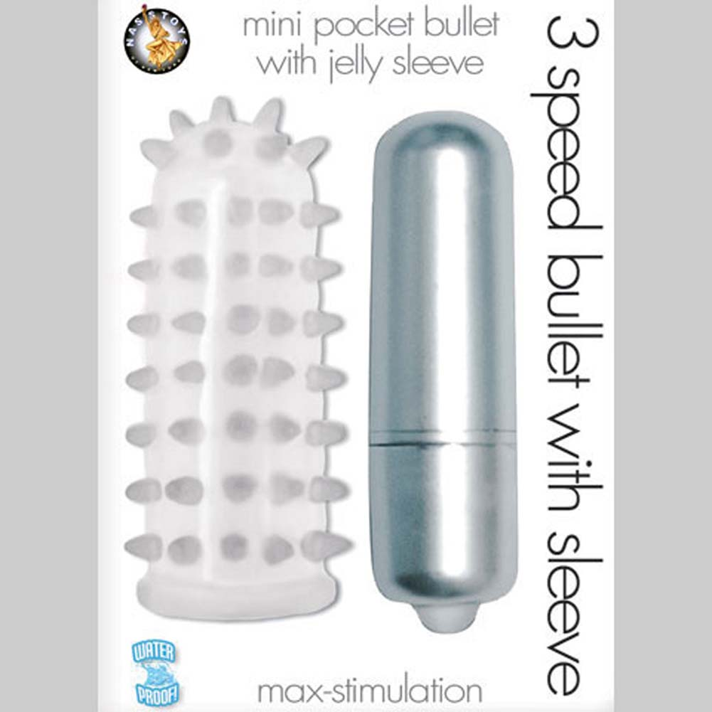 3 Speed Waterproof Bullet with Jelly Sleeve Silver - View #1