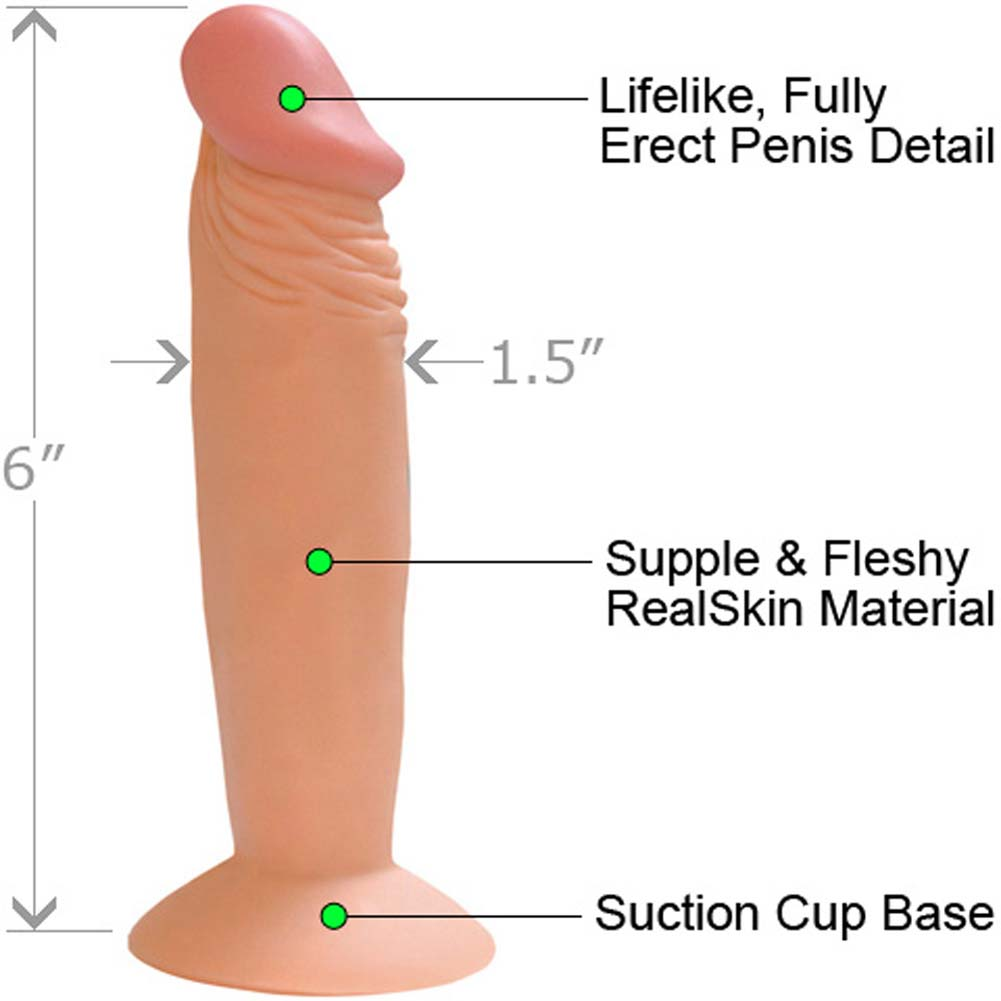 "RealSkin All American Whopper 6"" Flexible Dong Natural - View #1"