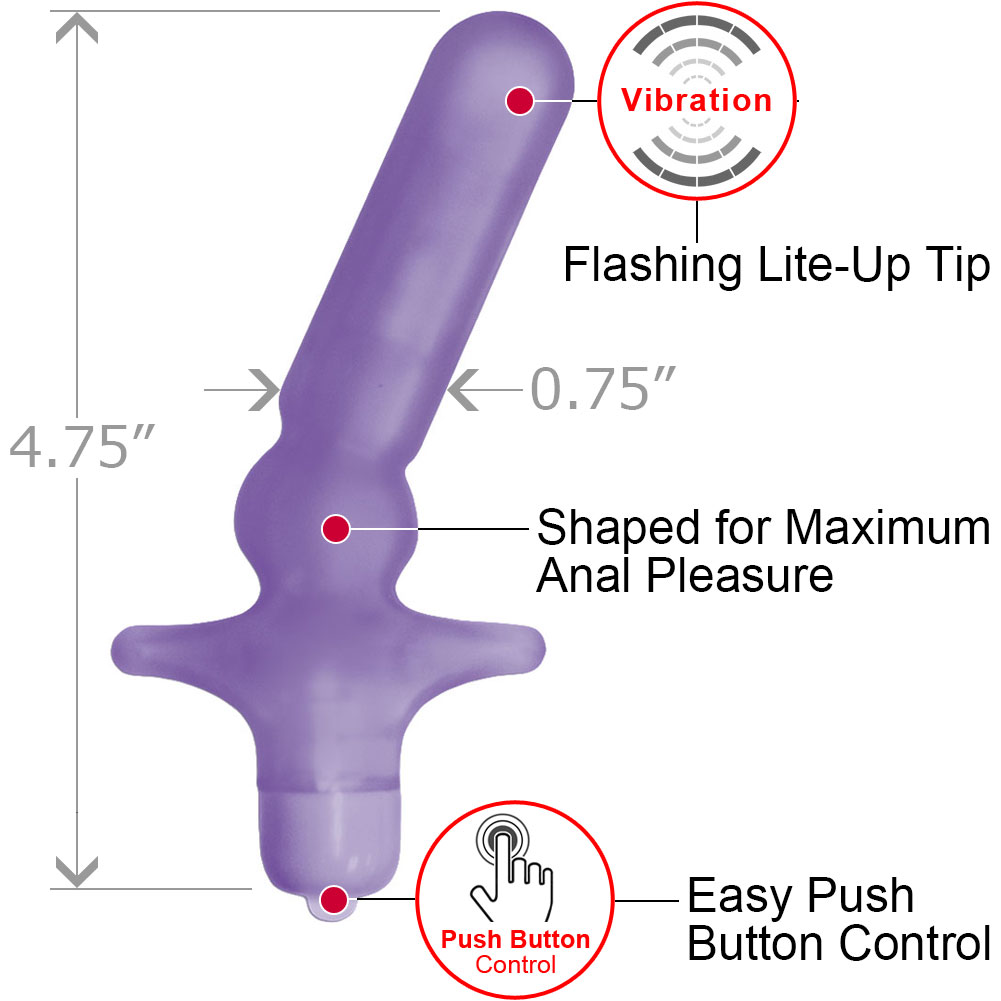 """Nasstoys My First Vibrating Mini Anal T Butt Plug Waterproof 4.75"""" Lavender - View #1"""