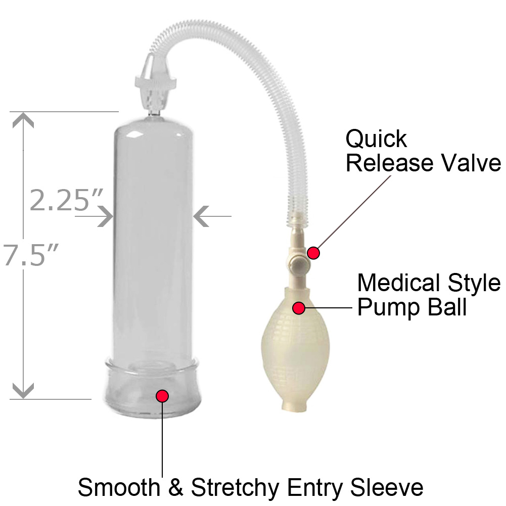 Doc Johnson So Pumped Penis Pump for Men Clear - View #1