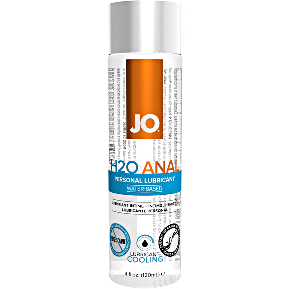 JO H2O Anal Cooling Water Based Personal Lubricant 4 Fl Oz 120 mL - View #2