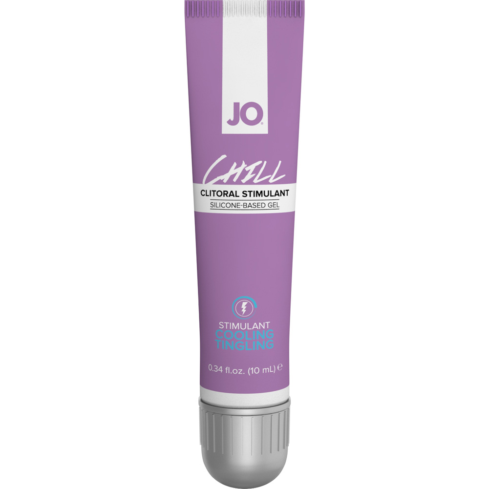 JO for Her Chill Clitoral Silicone Based Stimulant Gel 0.34 Fl.Oz 10 mL Tube - View #2