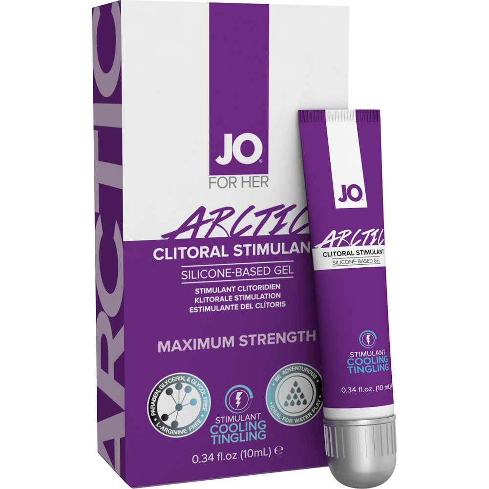 JO for Her Arctic Clitoral Silicone Based Stimulant Gel 0.34 Fl.Oz 10 mL Tube - View #1
