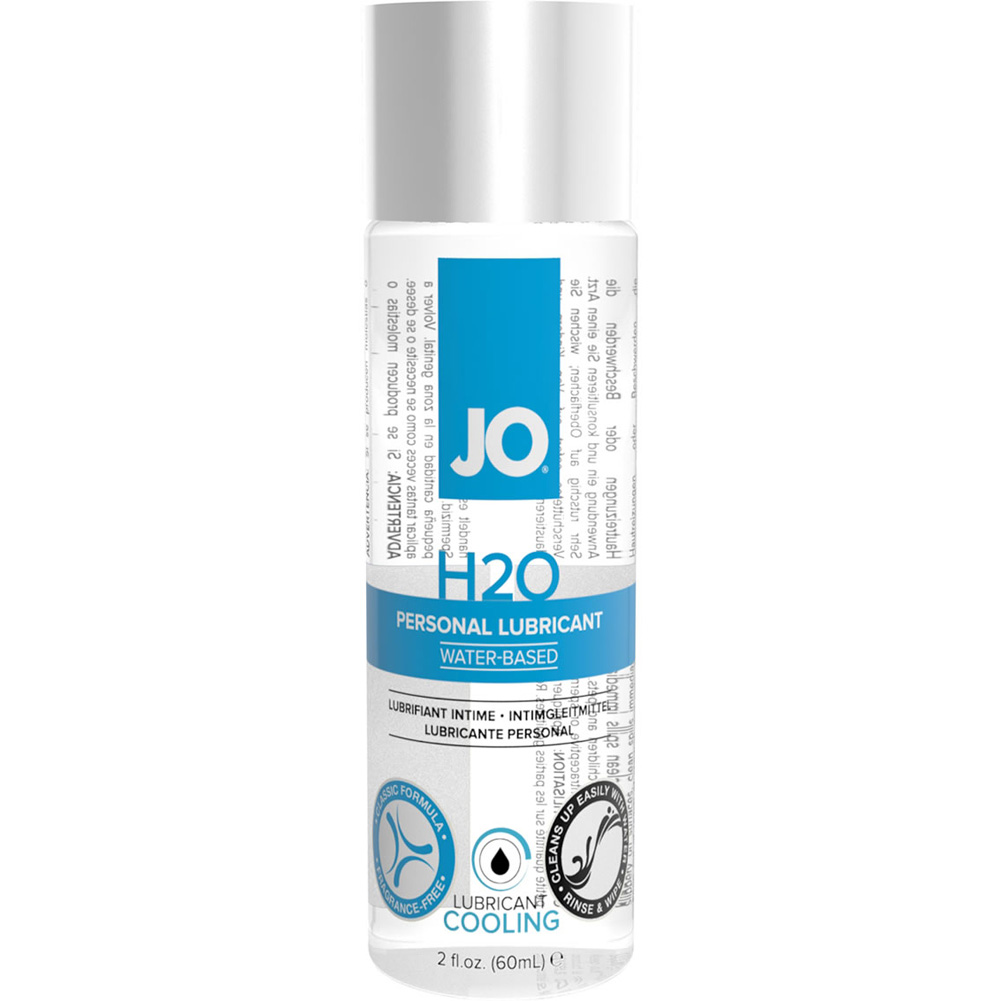 JO H2O Cooling Personal Water Based Personal Lubricant 2 Fl Oz 60 mL - View #1