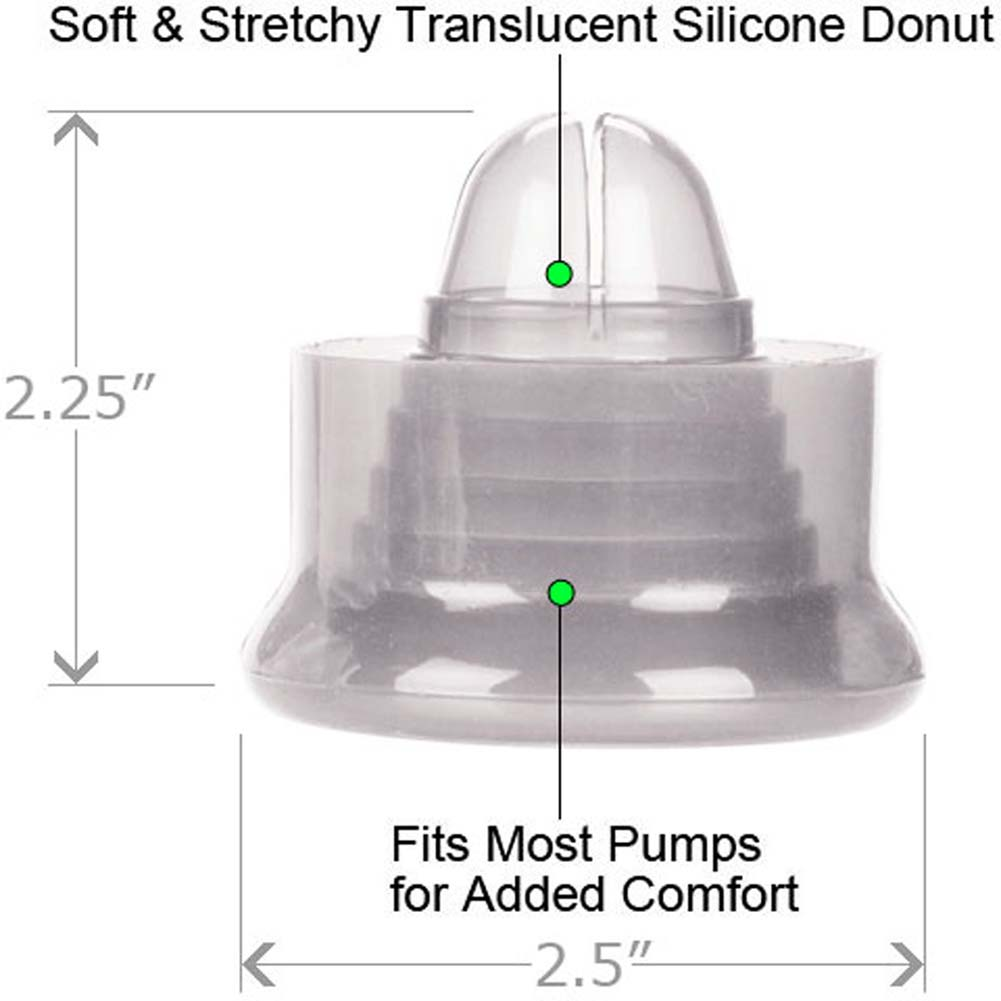 """CalExotics Universal Silicone Pump Sleeve 2.25"""" Clear - View #1"""