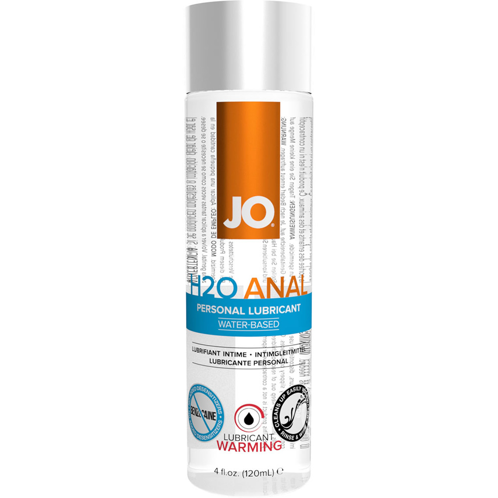 JO Anal H2O Warming Water Based Personal Lubricant 4 Fl Oz 120 mL - View #2
