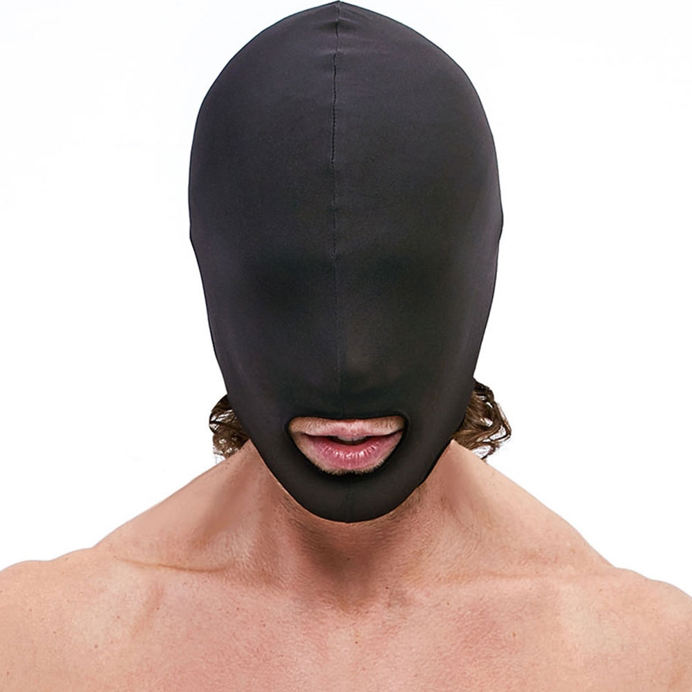 Lux Fetish Open Mouth Stretch Hood Black - View #2