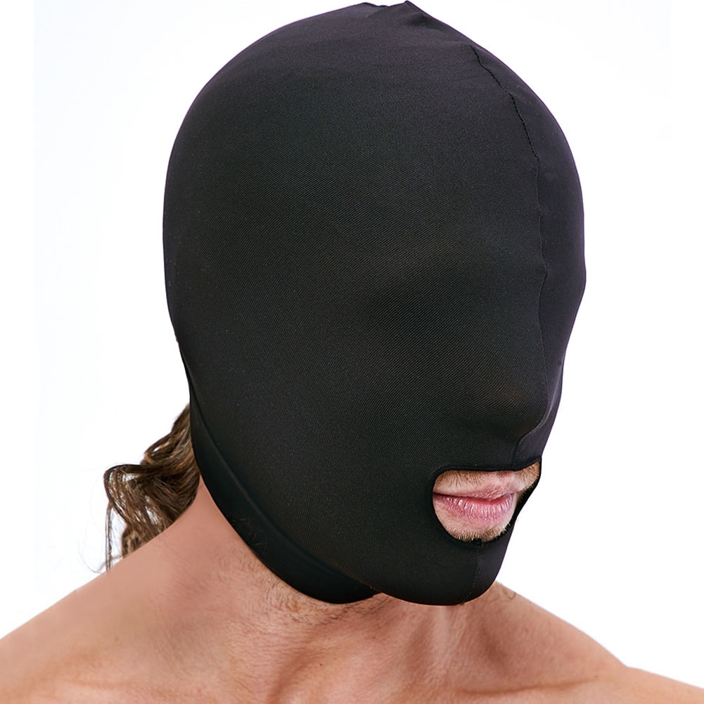 Lux Fetish Open Mouth Stretch Hood Black - View #3