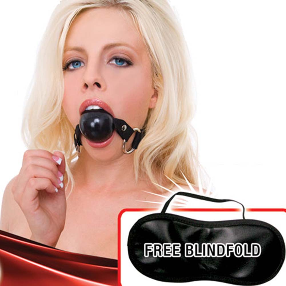 "Dominant Submissive Collection Ball Gag 2"" Kinky Black - View #1"